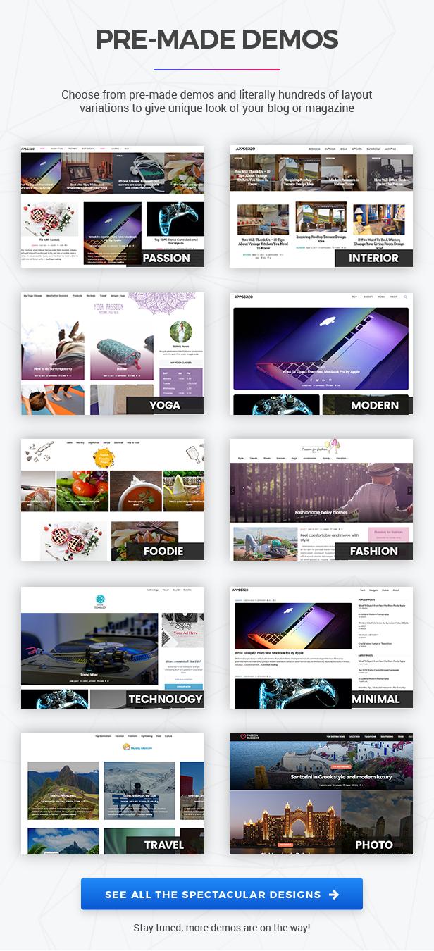 Passion Blogger - A Responsive WordPress Theme