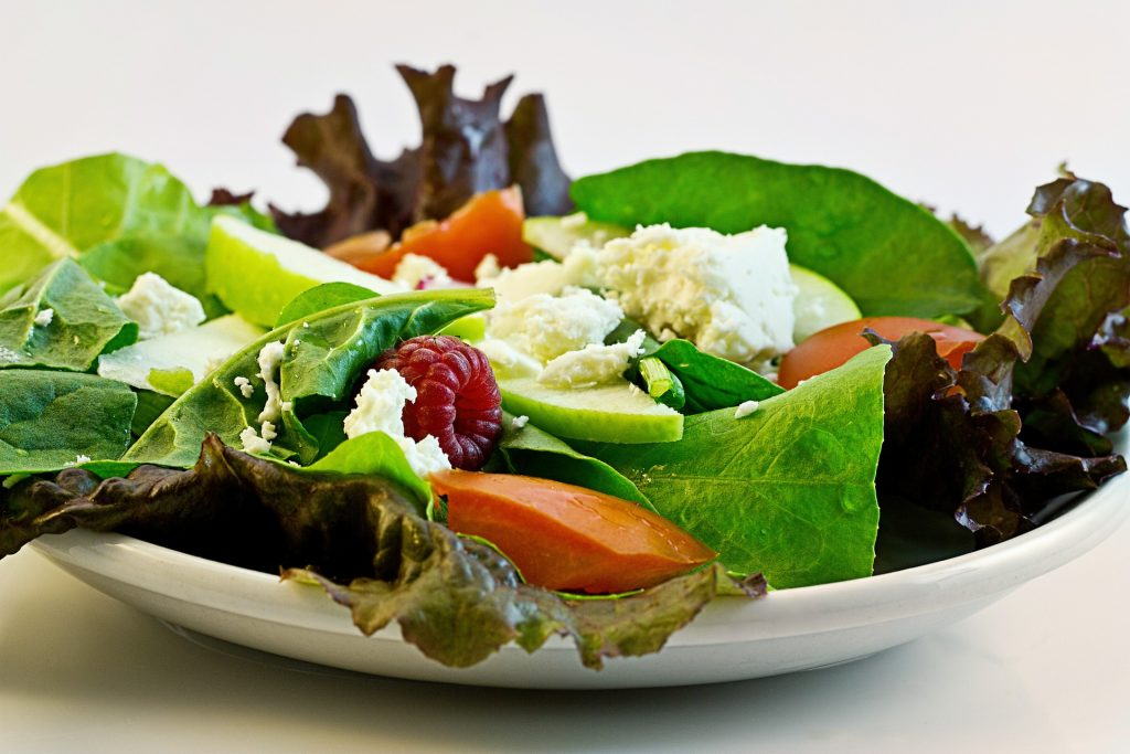 The salads are simple for cooking